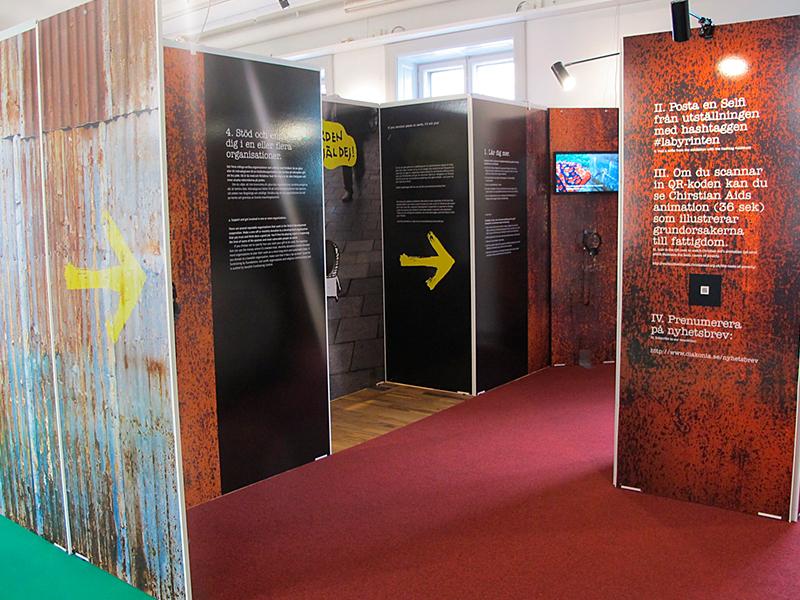 Labyrinten 2 - utställning av Actit Kommunikation
