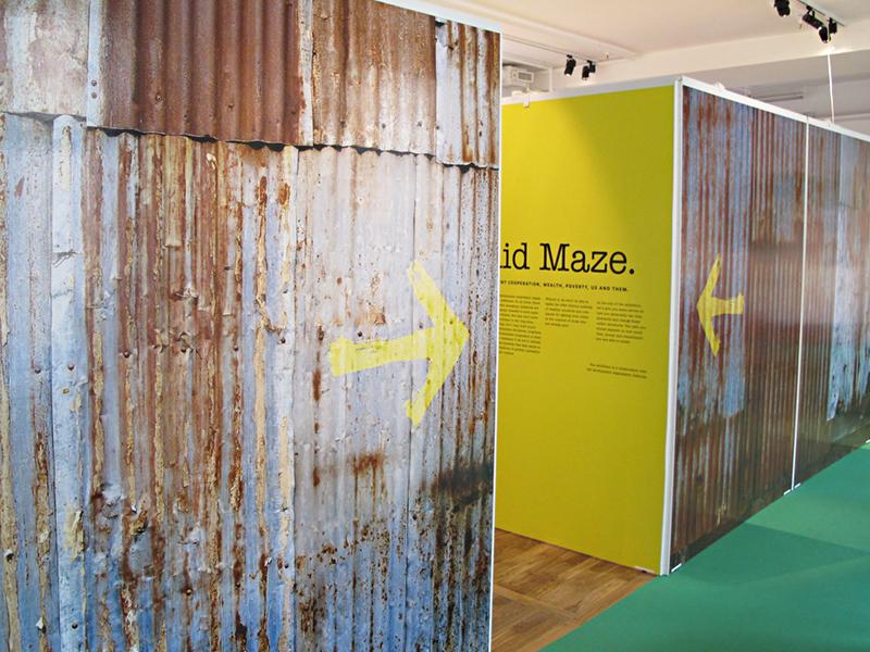 Labyrinten 3 - utställning av Actit Kommunikation
