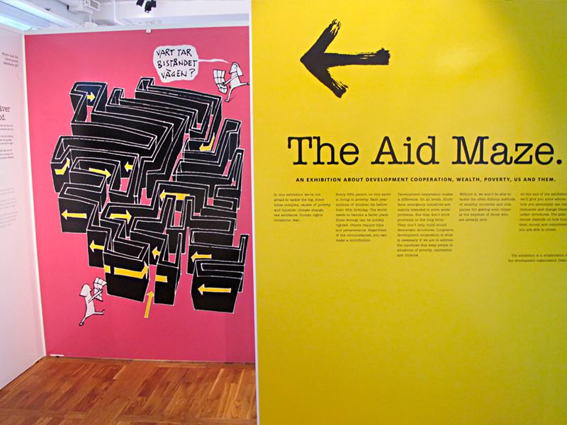 Labyrinten 4 - utställning av Actit Kommunikation